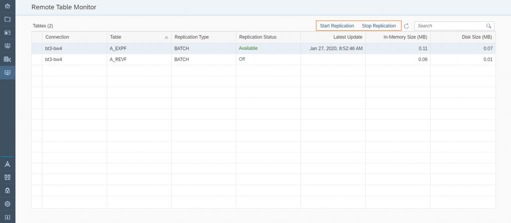 Data Warehouse Cloud: Monitor