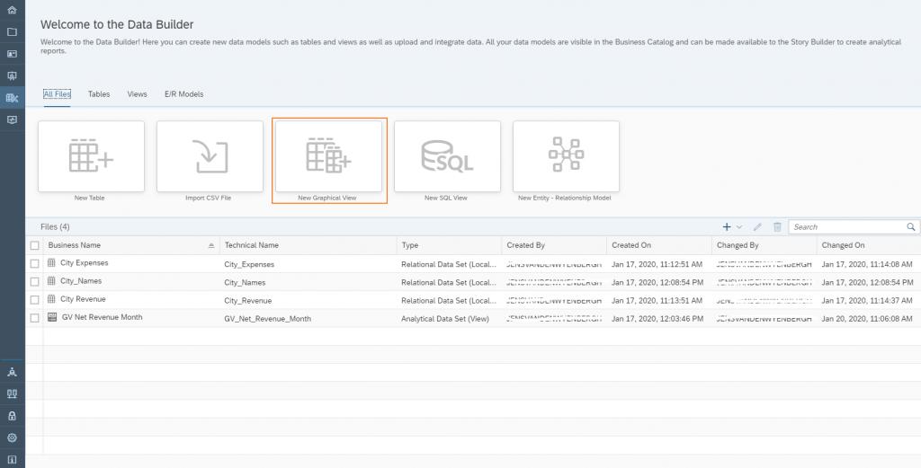 Data Warehouse Cloud: Select GV1